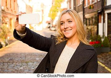 selfie, girl