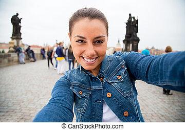 selfie in Prague
