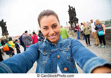 selfie in Prague