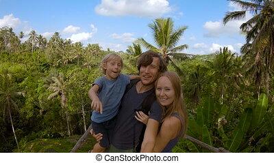 selfie, jeune, vue, grand, slowmotion, terrasse, confection...