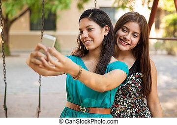 selfie, mon, meilleur ami