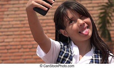 Selfie Of Hispanic Girl