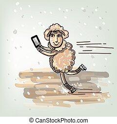 Selfie on the skates.