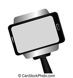 selfie photographic concept icon vector illustration design