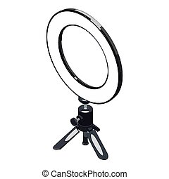 Selfie ring light icon. Isometric of selfie ring light icon for web design isolated on white background