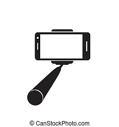 Selfie stick icon. Vector concept illustration for design.