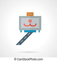 Selfie stick vector icon flat style