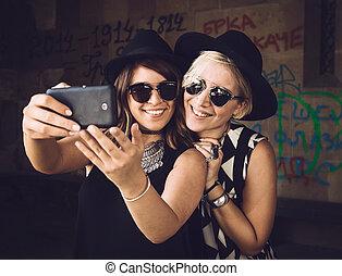 selfie, temps
