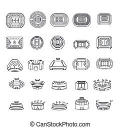 Selfie video photo people icons set, outline style