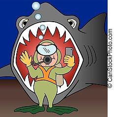 Selfie with Shark