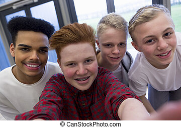 Selfie with the Lads