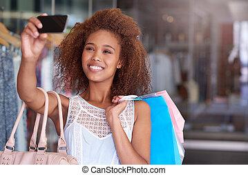 selfies, alameda, compras, ventas