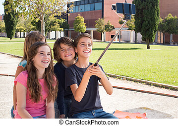 selfies, escolares, toma