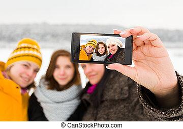 selfies, petites amies