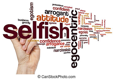 Selfish word cloud