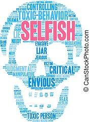 Selfish Word Cloud