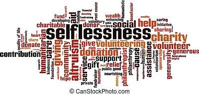 Selflessness word cloud