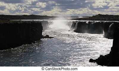 Selfoss waterfall in Northern Iceland - Huge amazing Selfoss...