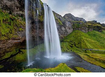 seljalandsfoss, cascata, in, islanda