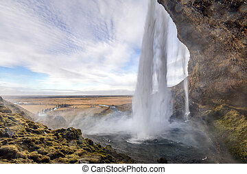 seljalandsfoss, cascata, islanda