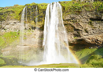 Seljalandsfoss, waterfall in Icelan