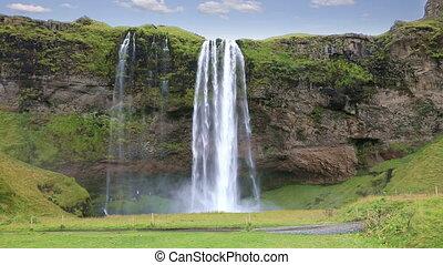 Seljalandsfoss waterfalls in Iceland - Beautiful of...