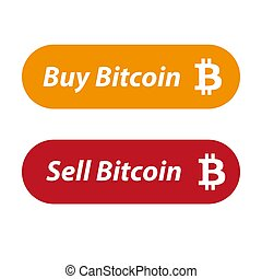 Sell and Buy Bitcoin button set