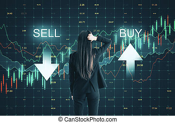 Sell and buy concept