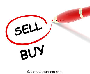 sell buy concept illustration