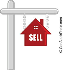 Sell House Vector Board