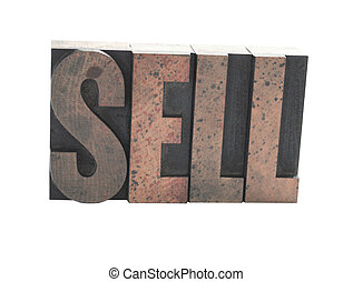 sell in old wood type