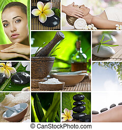 sell it - Spa theme photo collage composed of different...