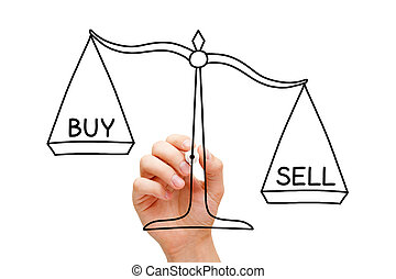 Sell Or Buy Scale Concept