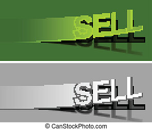 Sell peel off vector design element