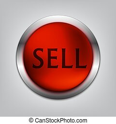 Sell Red Button Realistic