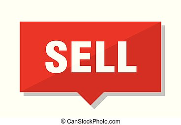 sell red tag - sell red square price tag
