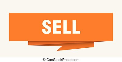 sell sign. sell paper origami speech bubble. sell tag. sell...