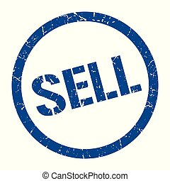 sell stamp - sell blue round stamp