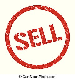sell stamp - sell red round stamp