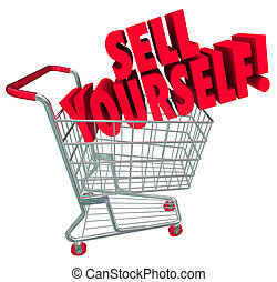 Sell Yourself Shopping Cart Market Your Abilities Skills - ...