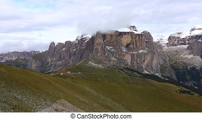 Sella group - view of Sella group mountains from Col Rodella...