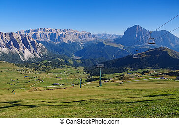 Sella group in Dolomites - Sella group mountains in italian...