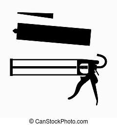 sellador, arma de fuego, calafateo