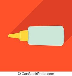 sellador, tela, acción, logo., súper, símbolo, tubo, web., ...