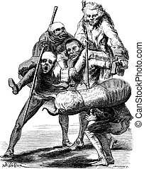 Sellier drawing. Inspired by the style of Francisco Goya,...