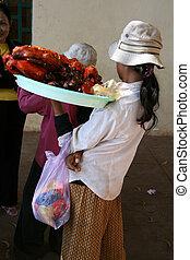 Selling Bugs - Phnom Penh, Cambodia
