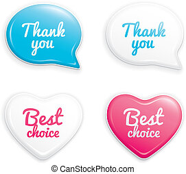 Set of selling stickers. Similar set in my portfolio