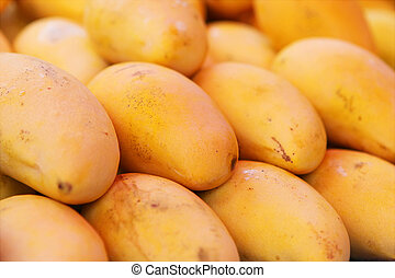 Selling yellow mango