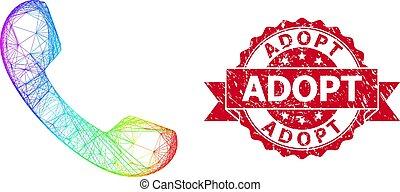 sello, adoptar, red, lgbt, caucho, teléfono, coloreado
