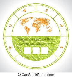 sello, como, sitio web, plantilla, diseño